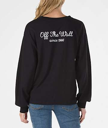 Vans Lorraine Black Long Sleeve T-Shirt