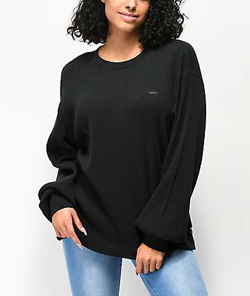 Vans Lorraine Black Thermal Long Sleeve Top