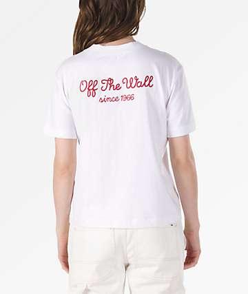 Vans Lorraine Boxy White T-Shirt