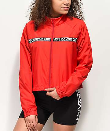 82c637098a7ca Vans MTE Red Crop Windbreaker Jacket