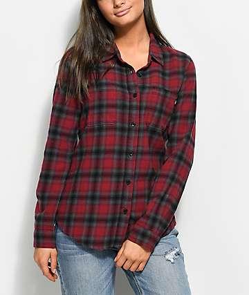Vans Meridian Red & Grey Flannel Shirt