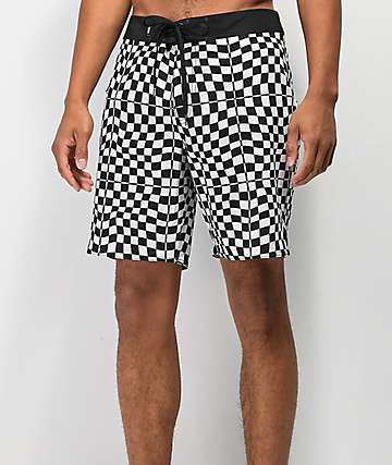 "Vans Mixed Checkerboard 18"" Black & White Boardshorts"