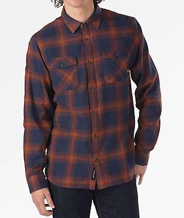 Vans Monterey III Blue & Orange Flannel Shirt