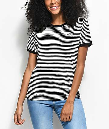 Vans Mood Ring Black & White Striped T-Shirt
