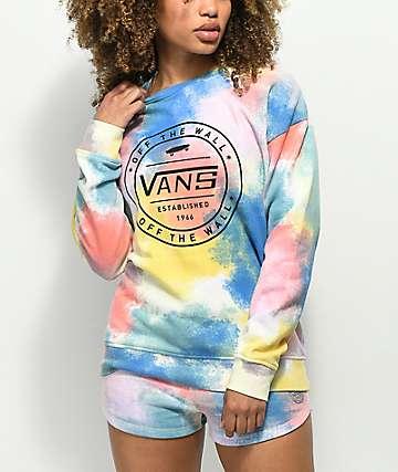Vans Newhouse Tie Dye Crew Neck Sweatshirt
