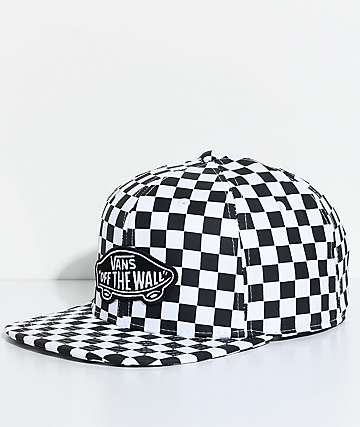 Vans OTW Black & White Checkered Snapback Hat
