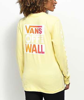 Vans OTW Pale Yellow & Pink Long Sleeve T-Shirt