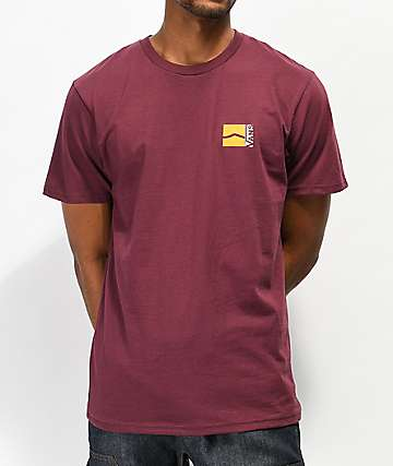 Vans Off Balance Burgundy T-Shirt