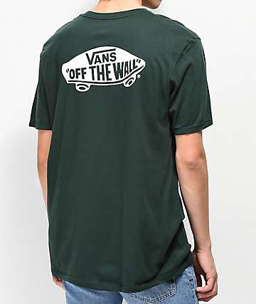 Vans Off The Wall Classic Green & White T-Shirt