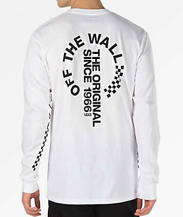 Vans Off The Wall Distort White Long Sleeve T-Shirt