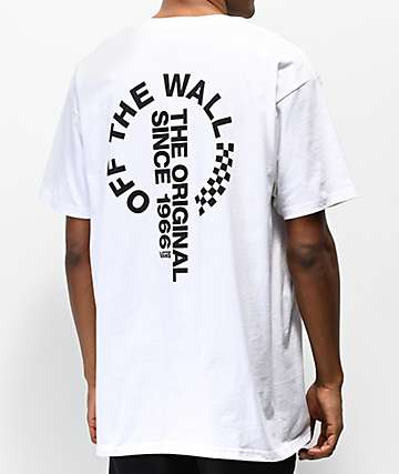 c4bb7485f3 Vans Off The Wall Distort White T-Shirt