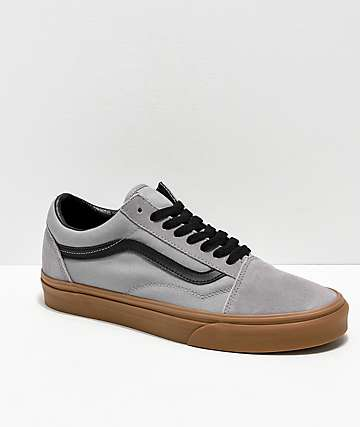 Vans Old Skool Alloy Grey, Black & Gum Skate Shoes