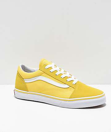 55983ab1b4e686 Vans Old Skool Aspen Gold   True White Skate Shoes