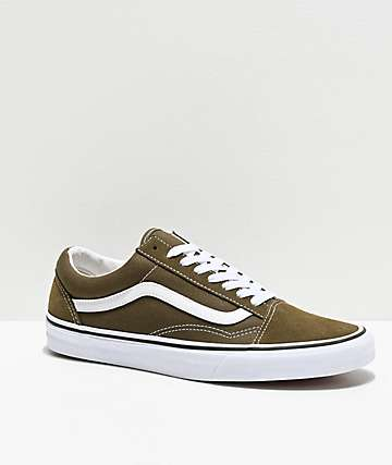 Vans Old Skool Beech & True White Skate Shoes