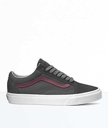Vans Old Skool Black & Port Royale Skate Shoes