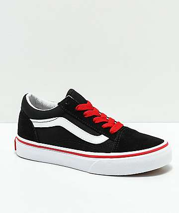Vans Old Skool Black & Red Shoes