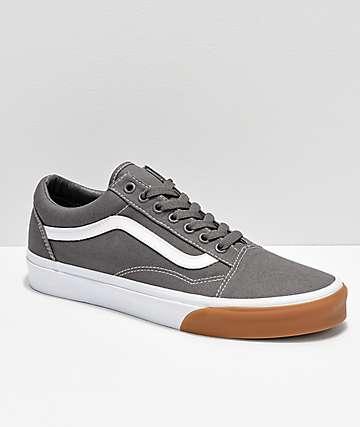 Vans Old Skool Bumper zapatos de skate en gris y blanco
