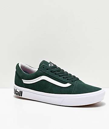 Vans Old Skool ComfyCush Trekking Green & White Skate Shoes