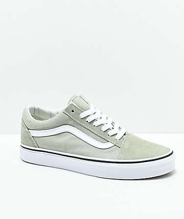 Vans Old Skool Desert Sage   True White Skate Shoes 5170b9c89