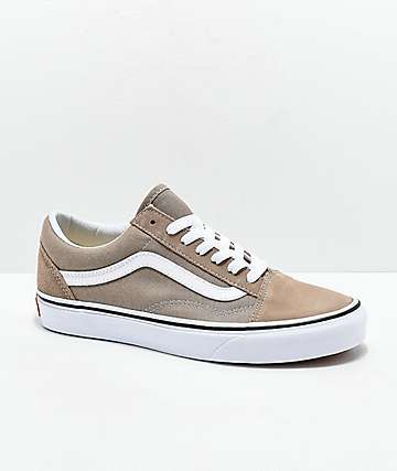 Vans Old Skool Desert Taupe & White Skate Shoes