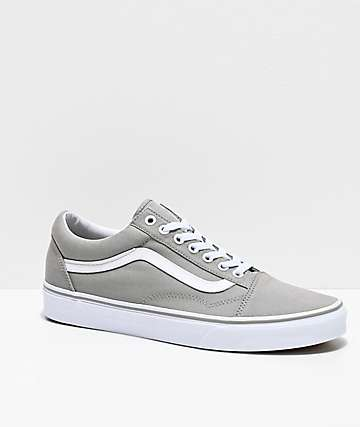 Vans Old Skool Drizzle Grey & White Skate Shoes