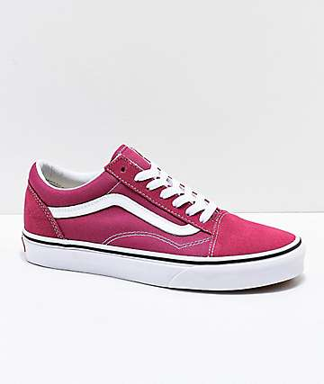 45474f195d Vans Old Skool Dry Rose   White Skate Shoes