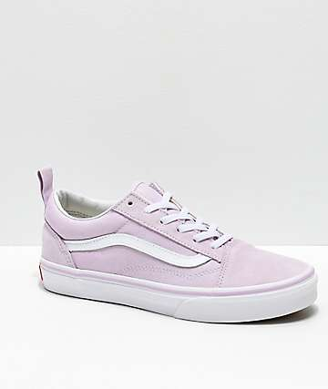 Vans Old Skool Elastic Lavender Fog Skate Shoes
