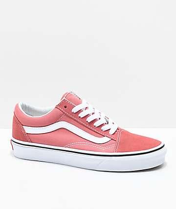 Vans Old Skool Faded Rose & True White Skate Shoes