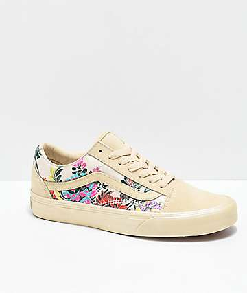 Vans Old Skool Festival Satin Gold Skate Shoes