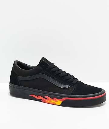 Vans Old Skool Flame Wall Black & Black Shoes
