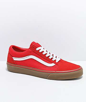 Vans Old Skool Formula Red Gum Skate Shoes