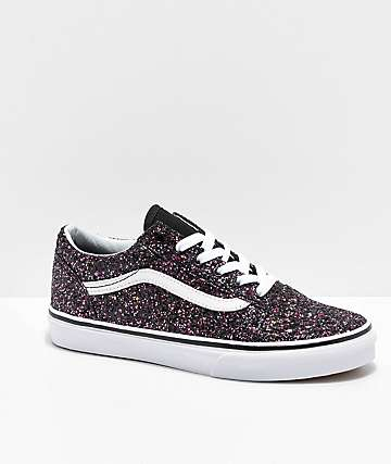 206928d5f731 Vans Old Skool Glitter Star Black Skate Shoes