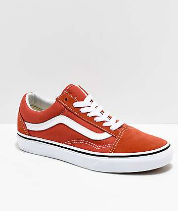 Vans Old Skool Hot Sauce & White Shoes