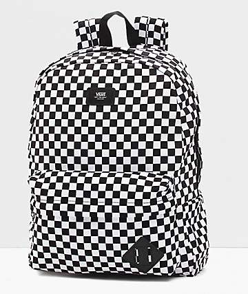 627cd67b06 Vans Old Skool II Black   White Checkerboard Backpack
