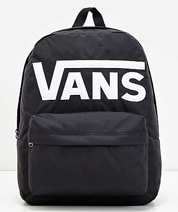 6243fee3c00a4b Vans Old Skool II Black   White Logo Backpack