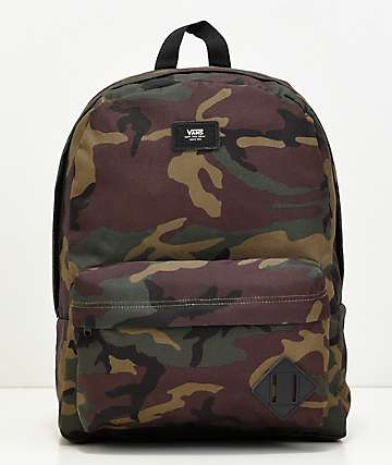 11806f9e5b5197 Vans Old Skool II Camo   Black Backpack