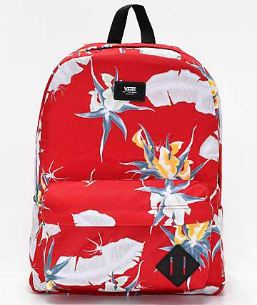 Vans Old Skool II Racing Red Print Backpack