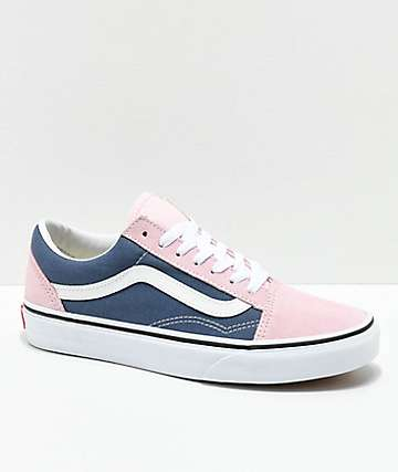 6bf7070649 Vans Old Skool Indigo   Chalk Pink Skate Shoes
