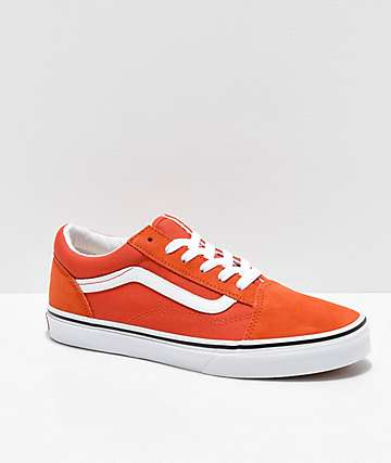 Vans Old Skool Koi Orange & White Skate Shoes