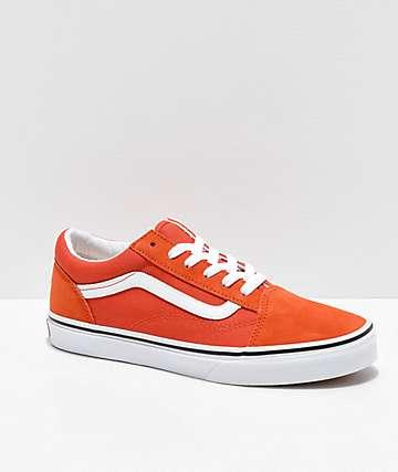939d2786ef6e Vans Old Skool Koi Orange   White Skate Shoes