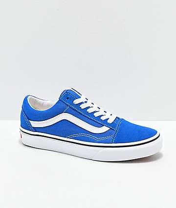 4c2d5d4296eff Vans Old Skool Lapis zapatos de skate azules y blancos