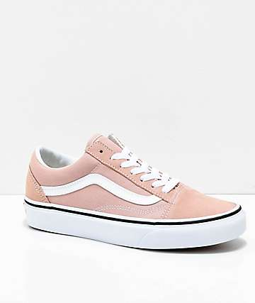 Vans Old Skool Mahogany Rose True White Skate Shoes