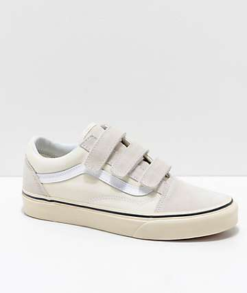 Vans Old Skool Marshmallow & Dove Prison Skate Shoes