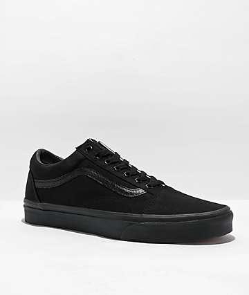 Vans Old Skool Mono Black Skate Shoes