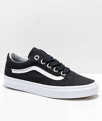 Vans Old Skool Oversized Lace Black & White Shoes