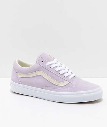 Vans Old Skool Pastel Orchid & White Skate Shoes
