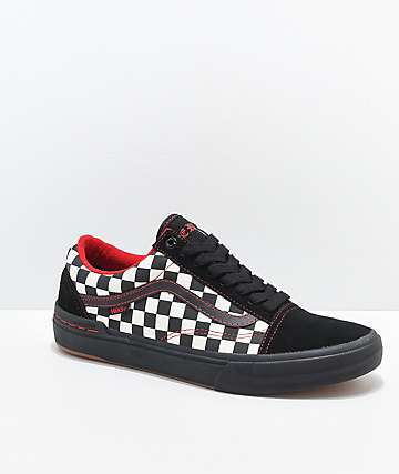 4bca60b9d9 Vans Old Skool Peraza Pro Black Checkerboard Skate Shoes