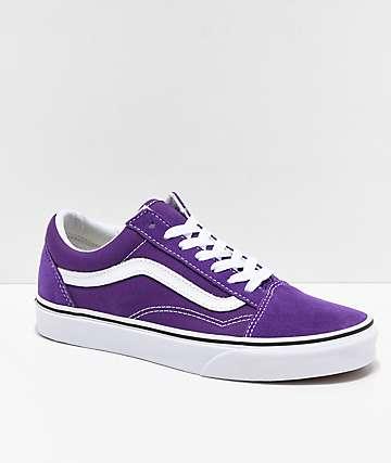 Vans Old Skool Petunia & True White Skate Shoes