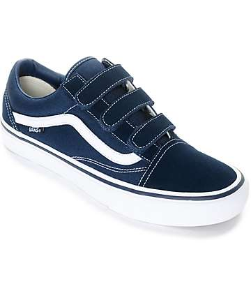 Vans Old Skool Prison Pro Navy & White Skate Shoes
