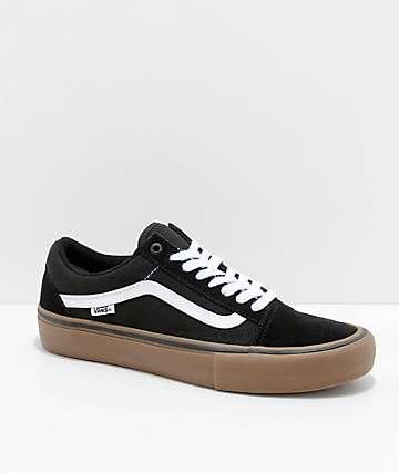 vans old skool black and white gum